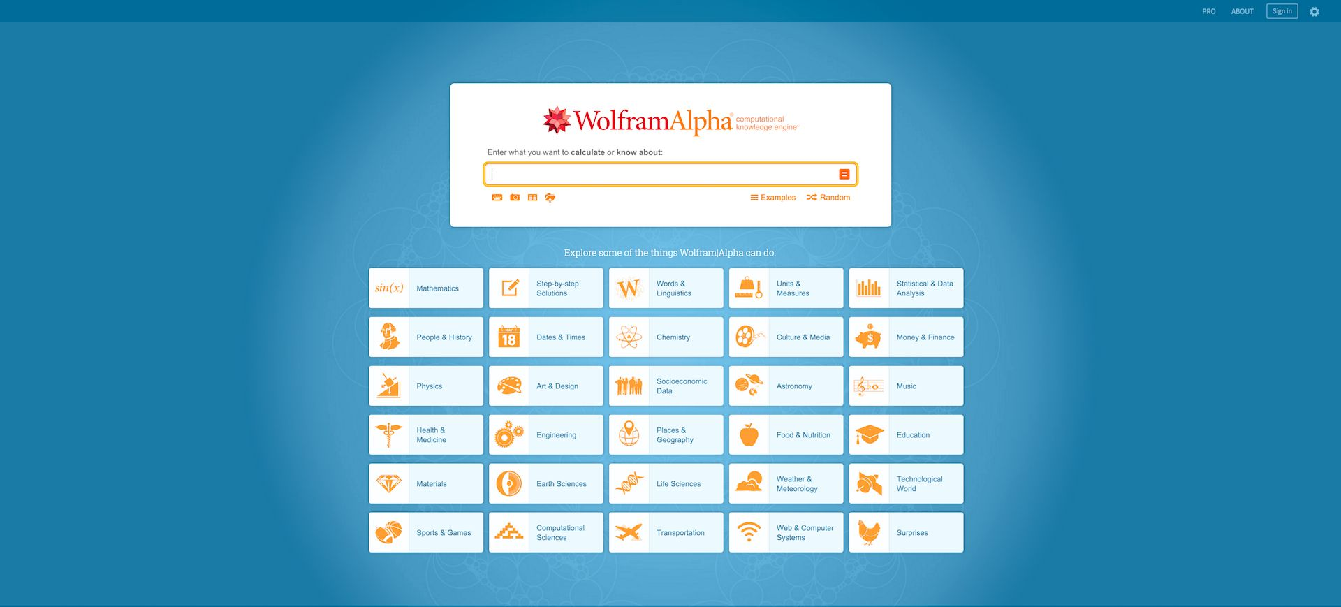 wolfram alpha screen